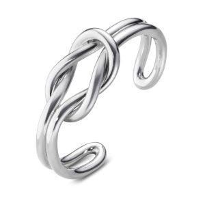 Mestergull Love Knot Armring i sølv GEORG JENSEN Love Knot Armring