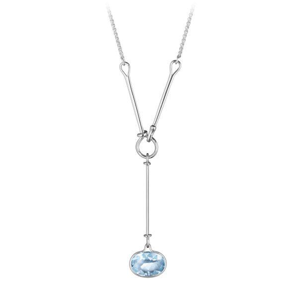 Mestergull Savannah Halssmykke i sølv med blå topas GEORG JENSEN Savannah Anheng