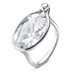 Mestergull Savannah Ring i sølv med bergkrystall GEORG JENSEN Savannah Ring