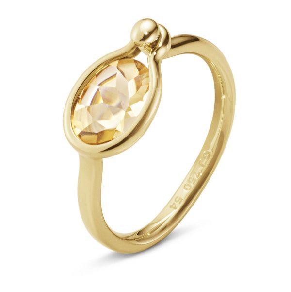 Mestergull Savannah Small Ring i 18 K GultGull med Citrin GEORG JENSEN Savannah Ring