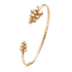 Mestergull Moonlight Grapes Armring i 18 K Rosé gull med brilliantslipte diamanter GEORG JENSEN Grape Armring