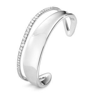 Mestergull Marcia Armring i sølv med diamanter GEORG JENSEN Marcia Armring