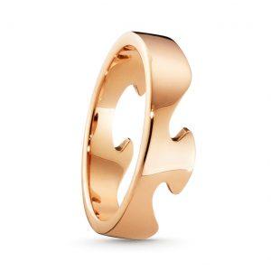 Mestergull Fushion End Ring i 18 K Rosè Gull GEORG JENSEN Fusion Ring