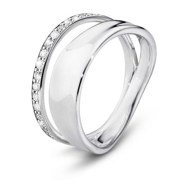Mestergull Marcia Ring i sølv med Diamanter GEORG JENSEN Marcia Ring