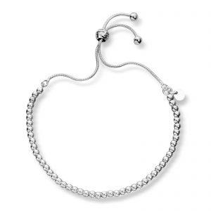 Mestergull Fint armbånd med kuler i sølv GID Armbånd