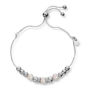 Mestergull Fint armbånd i sølv med ferskvannsperler GID Armbånd