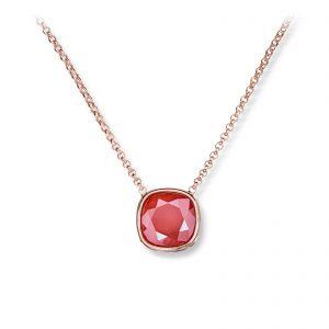 Mestergull Lekkert anheng i rosèforgylt sølv med rød krystall GID Anheng