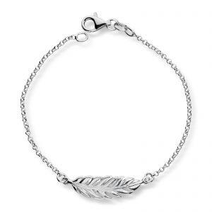 Mestergull Tøft armbånd i rhodinert sølv med blad GID Armbånd