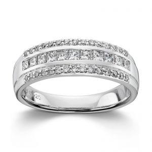 Mestergull Lekker ring i hvitt gull med 41 diamanter totalt 0,63 ct HSI MG DIAMONDS Ring