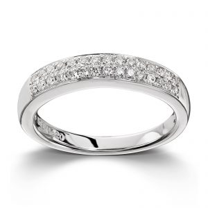 Mestergull Stilren ring i hvitt gull med 30 diamanter totalt 0,24ct. HSI MG DIAMONDS Ring