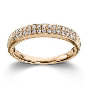 Mestergull Stilren ring i gult gull med 30 diamanter totalt 0,24ct. HSI MG DIAMONDS Ring
