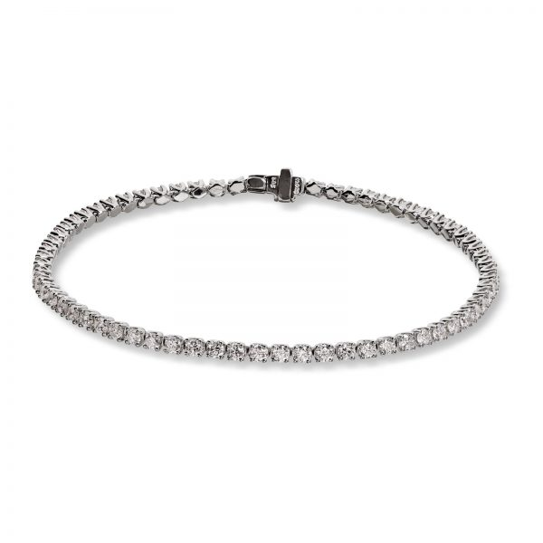 Mestergull Tennisarmbånd i hvitt gull med 68 diamanter à 0,04 ct. MG DIAMONDS Armbånd