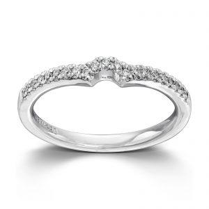 Mestergull Lekker rekkering i hvitt gull med diamanter til Cinderella MG DIAMONDS Ring