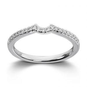 Mestergull Lekker rekkering i hvitt gull med diamanter til Madonna MG DIAMONDS Ring