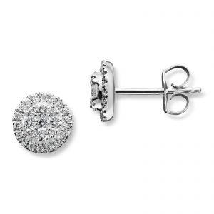 Mestergull Tidløs ørepynt i hvitt gull med diamanter MG DIAMONDS Ørepynt