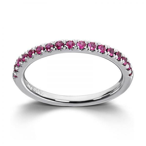Mestergull Tidløs ring i hvitt gull med rubin MG DIAMONDS Ring
