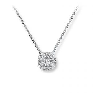 Mestergull Flott anheng i hvitt gull med diamanter MG DIAMONDS Kjede