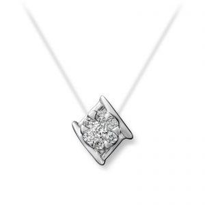 Mestergull Vakket anheng i hvitt gull med diamanter MG DIAMONDS Anheng