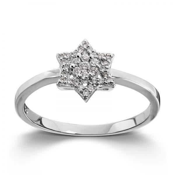 Mestergull Flott ring i gult gull med diamanter MG DIAMONDS Ring