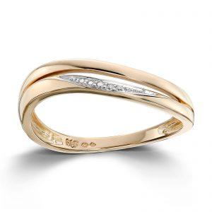 Mestergull Tidløs ring i gult gull med diamanter MG DIAMONDS Ring