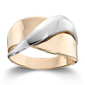 Mestergull Flottt ring i gult og hvitt gull MESTERGULL Ring