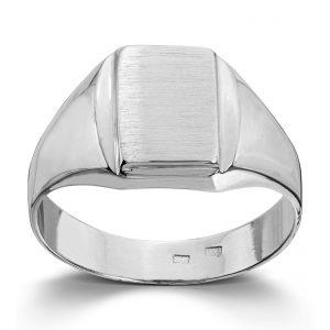 Mestergull Flott signetring i hvitt gull MESTERGULL Ring