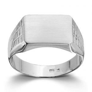 Mestergull Tøff signetring i hvitt gull MESTERGULL Ring