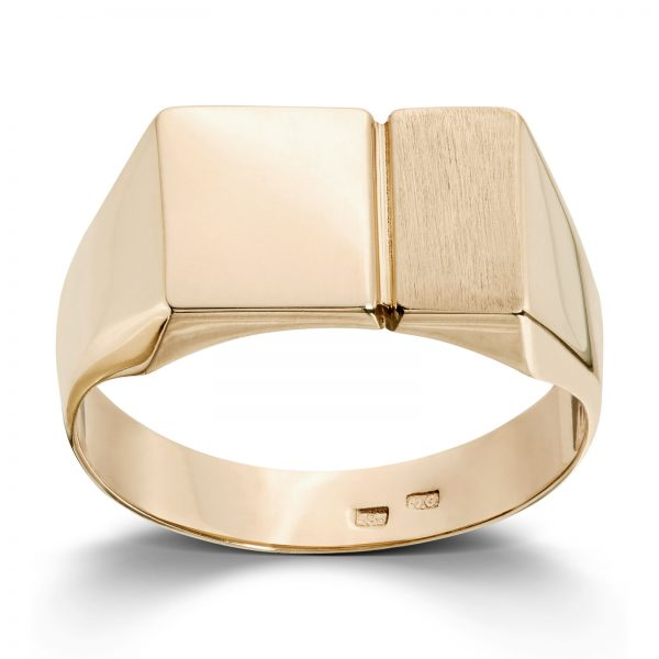 Mestergull Flott signetring i gult gull MESTERGULL Ring