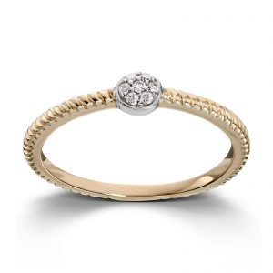 Mestergull Delikat ring i gult gull med diamanter MESTERGULL Ring