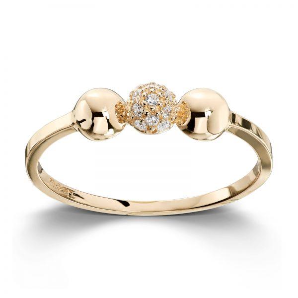 Mestergull Fin ring i gult gull med cubic zirkonia MESTERGULL Ring