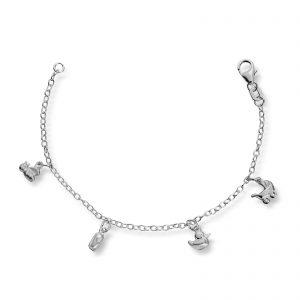 Mestergull Barnearmbånd i sølv med charm MG BASIC Armbånd