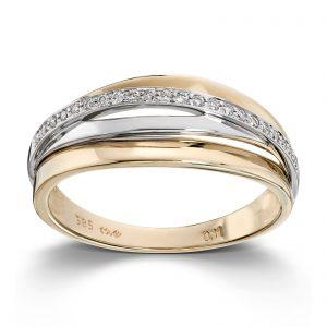 Mestergull Lekker ring i flerfarget gull med diamanter MG DIAMONDS Ring