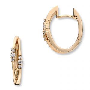 Mestergull Klassisk ørepynt i gult gull med diamanter MG DIAMONDS Ørepynt