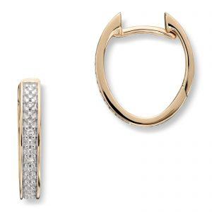 Mestergull Delikate øreringer i gult gull med diamanter MG DIAMONDS Ørepynt