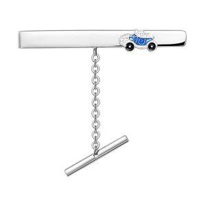 Mestergull Slipsnål med blå bil i sølv og emalje PIA & PER Slipsnål