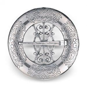 Mestergull Halsring i oksidert sølv. NORSK BUNADSØLV Halsknapp