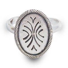 Mestergull Oppdal ring i oksidert sølv NORSK BUNADSØLV Ring