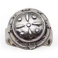 Mestergull Bunadsring i oksidert sølv. Mye brukt i Tromsbunaden NORSK BUNADSØLV Ring