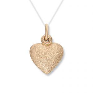 Mestergull Lite gult gull hjerte anheng. Diameter 1,3 cm VAN BERGEN Golden Heart Anheng