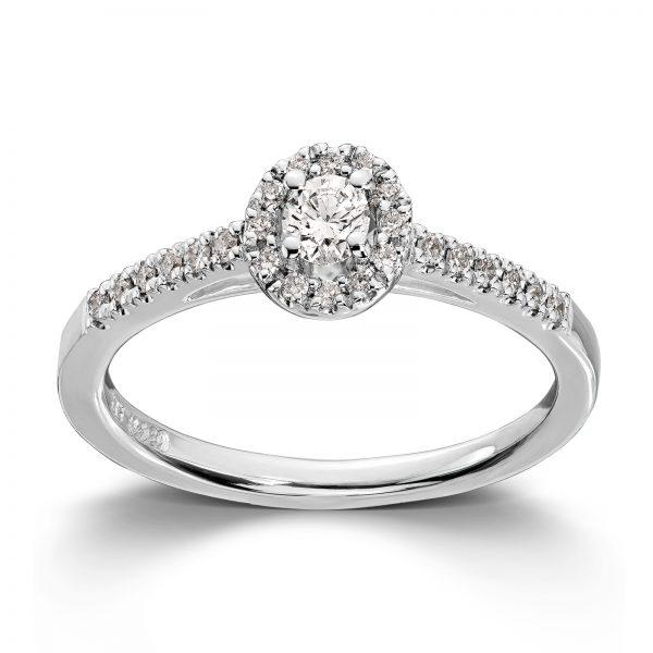 Mestergull Fantastisk ring i hvitt gull med diamanter MG DIAMONDS Ring