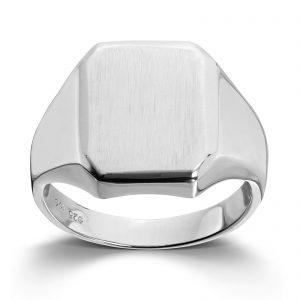 Mestergull Trendy signetring i rhodinert sølv MESTERGULL Ring