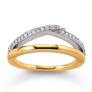Mestergull Vakker ring i forgylt sølv med cubic zirkonia VIVENTY Ring
