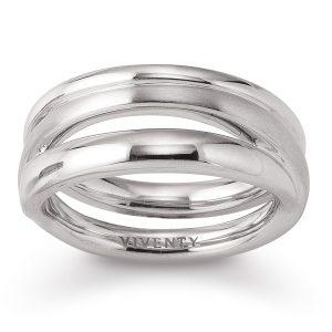 Mestergull Tøff ring i rhodinert sølv VIVENTY Ring