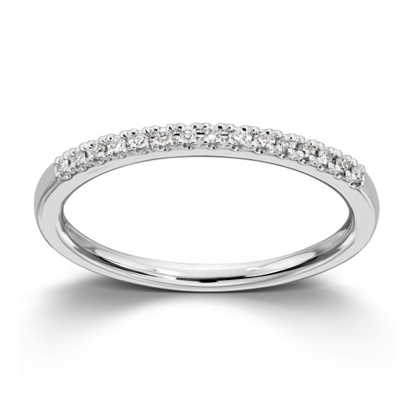 Mestergull Populær og trendy ring i hvitt gull med diamanter MG DIAMONDS Ring