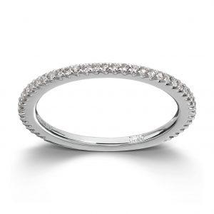 Mestergull Enkel delikat ring i hvitt gull med diamanter MG DIAMONDS Ring