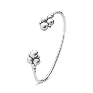 Mestergull Moonlight Grapes Åpen armring i sølv - Large GEORG JENSEN Grape Armring