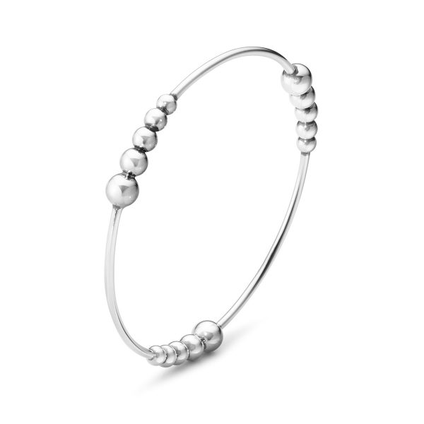 Mestergull Moonlight Grapes Armring i sølv GEORG JENSEN Grape Armring