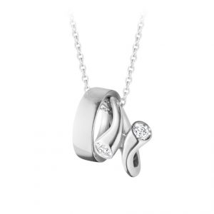 Mestergull Magic Anheng i hvitt gull med diamanter GEORG JENSEN Magic Anheng