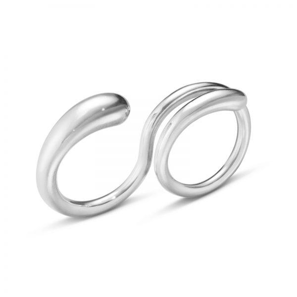 Mestergull Mercy Dobbelring i sølv GEORG JENSEN Mercy Ring