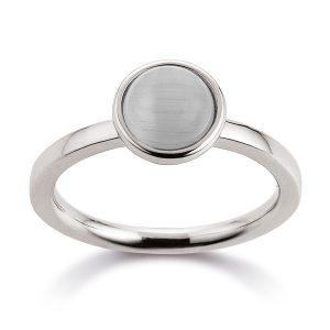 Mestergull Flott ring i rhodinert sølv med grå månesten VIVENTY Ring